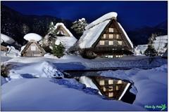 合掌村點燈雪景 by Peter2010