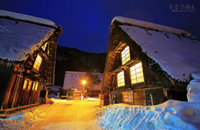 【冬天合掌村打燈】璀璨夜空。夢之對望